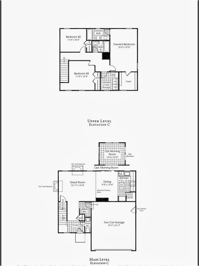 ryan homes floor plans sienna