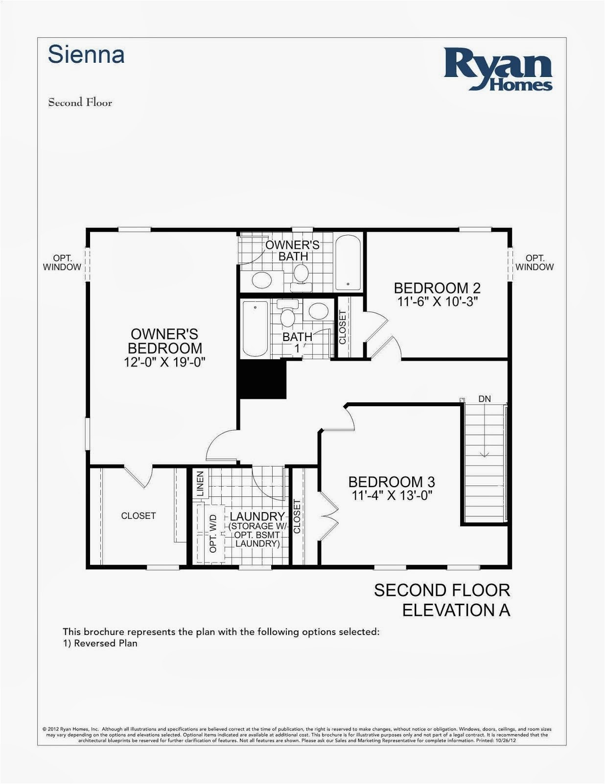 sienna ryan home floor plan