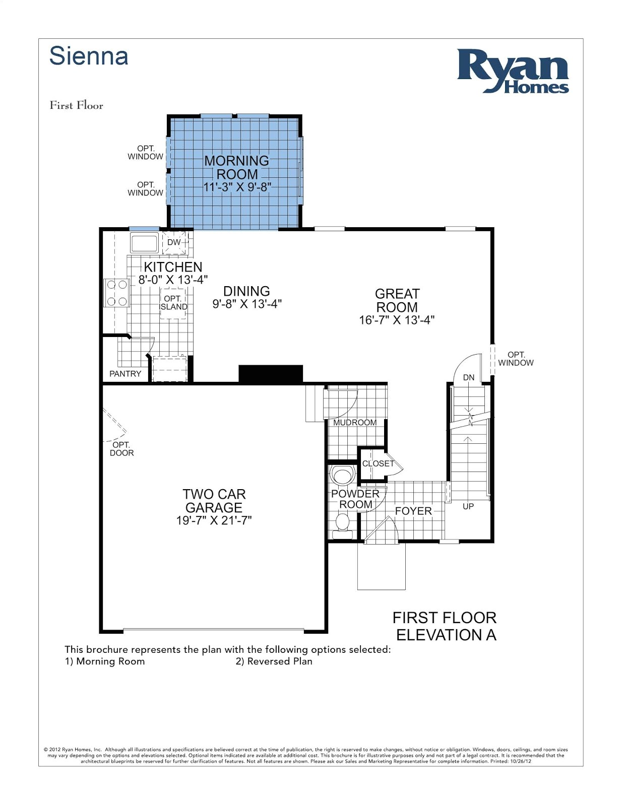 Ryan Homes Sienna Floor Plan Sienna Ryan Home Floor Plan House Design Plans