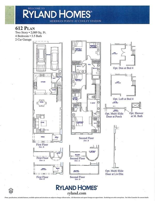 ryland floor plans