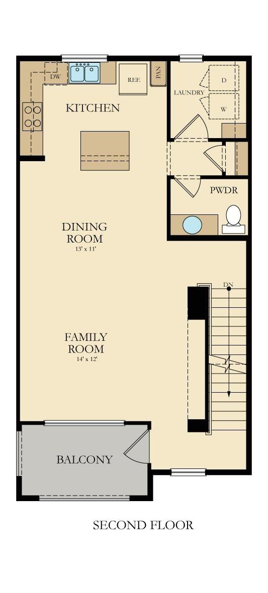 ryland townhomes floor plans