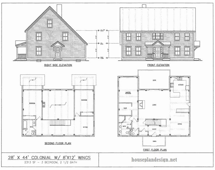authentic saltbox house plans