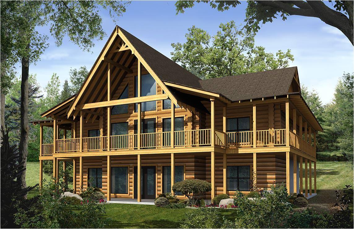 toccoa log home plan