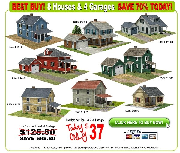 scale houses 8 house models to make