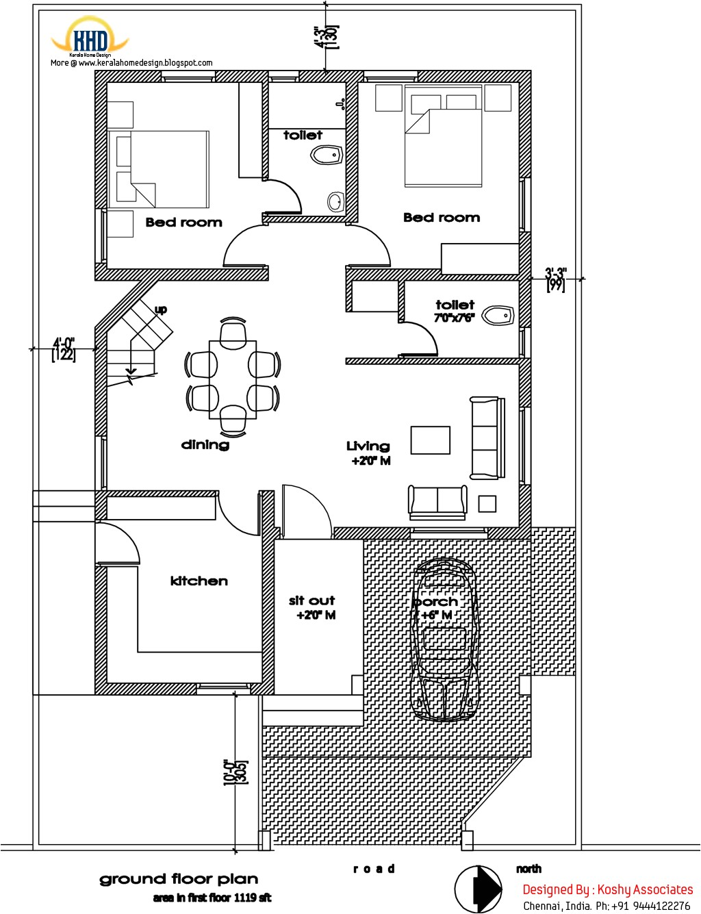 modern home design 1809 sq ft