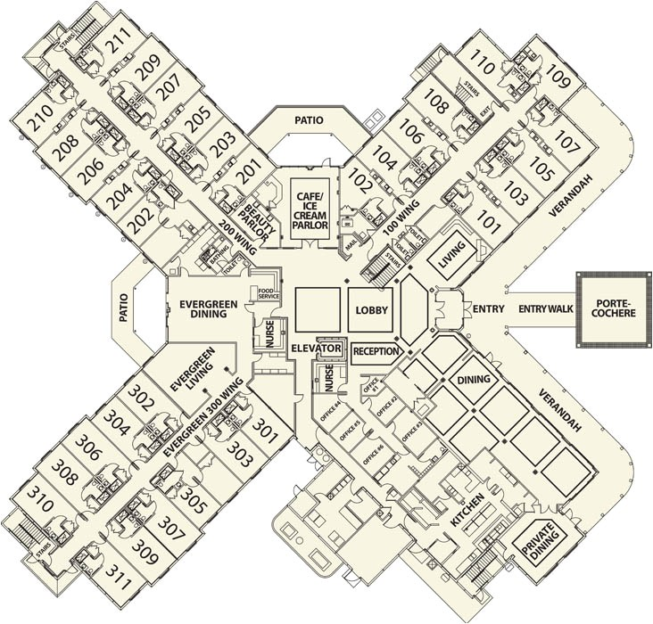 senior housing floor plans