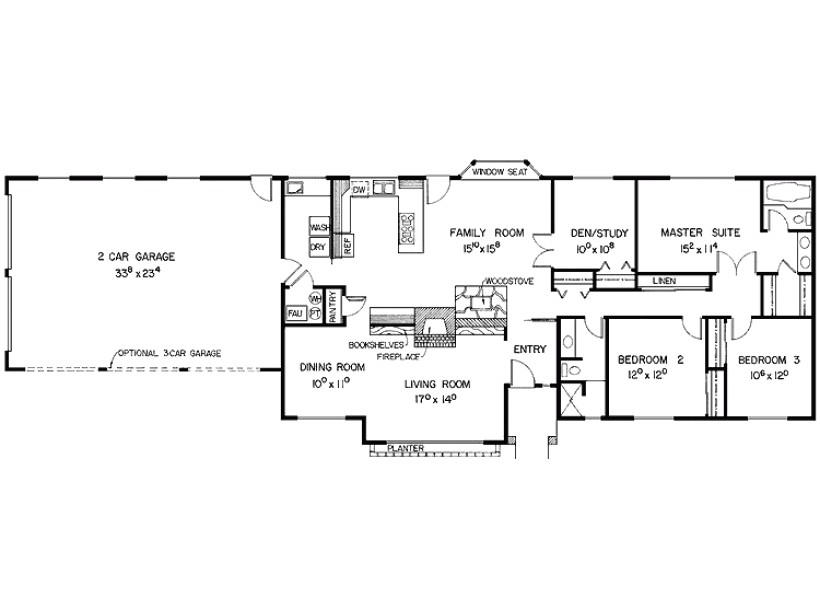 eplans southwest house plan designed wide shallow lot 2