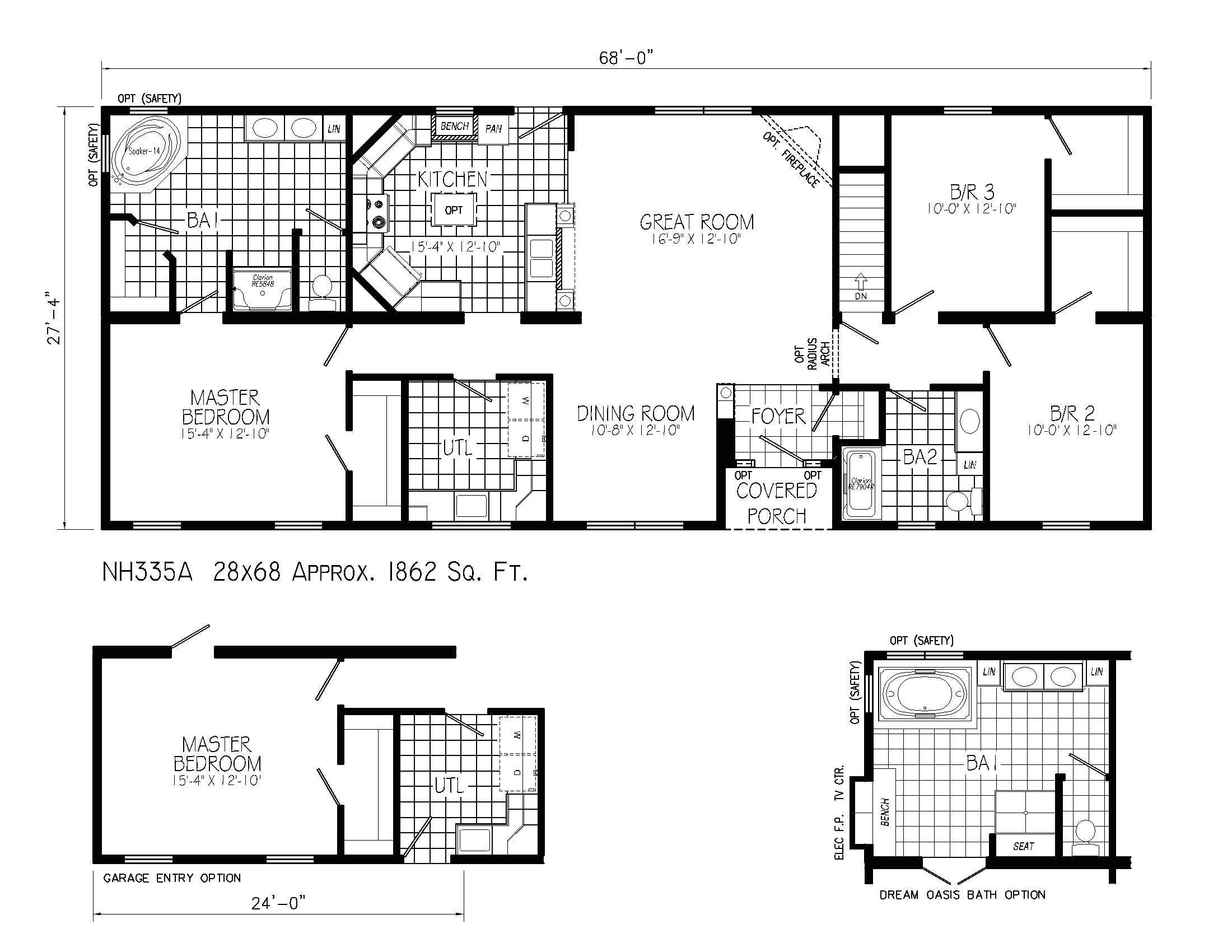 narrow lot ranch house plans