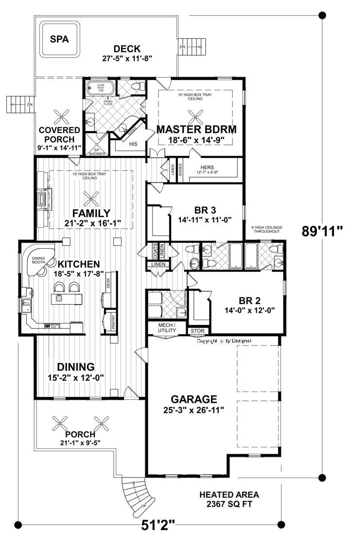 narrow ranch house plans