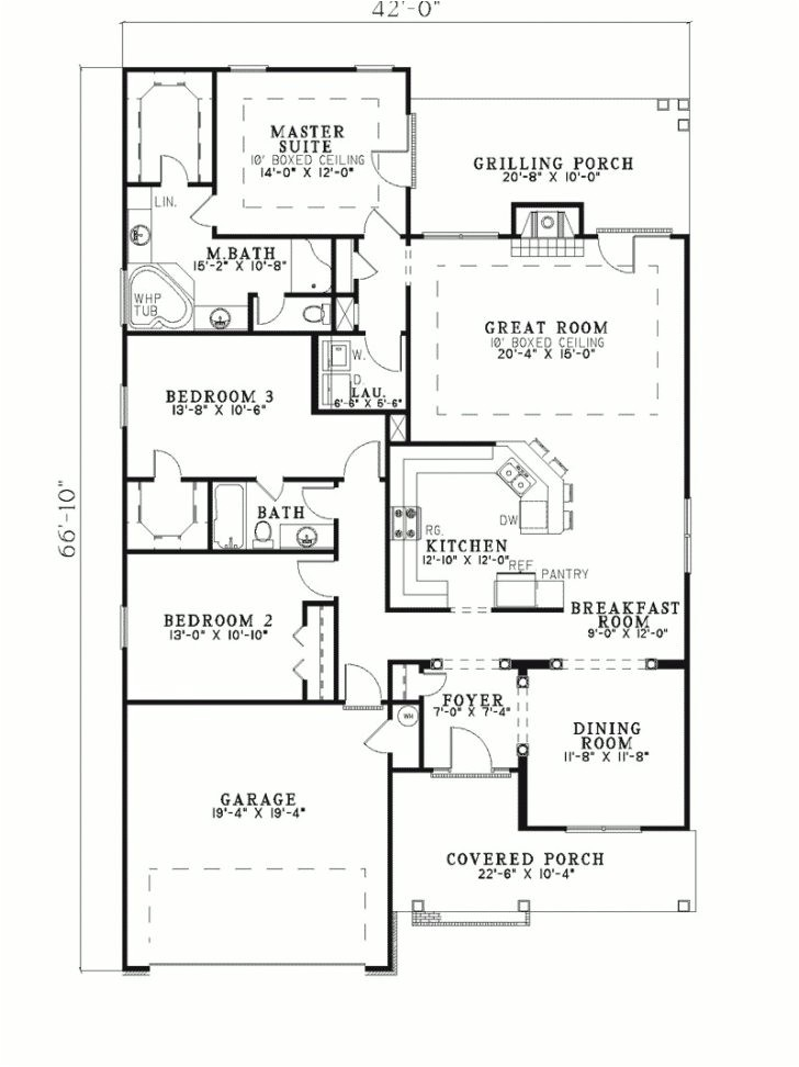 Shallow Lot Ranch House Plans Ranch House Plans for Narrow Lot Archives New Home Plans