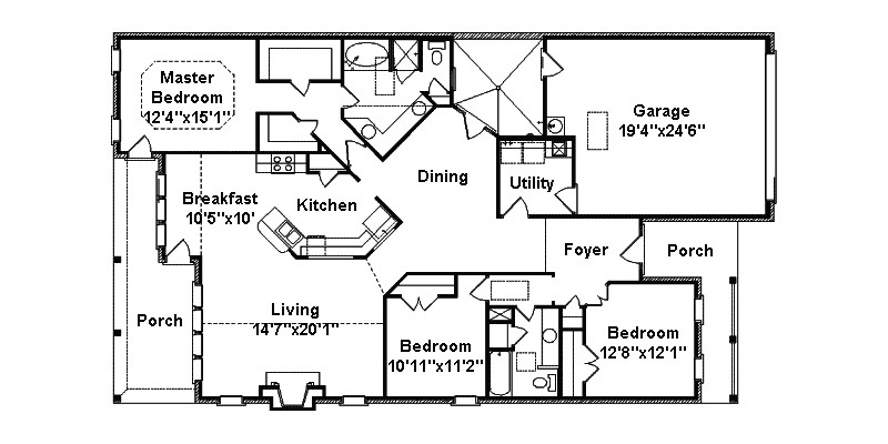 ranch house plans narrow lot