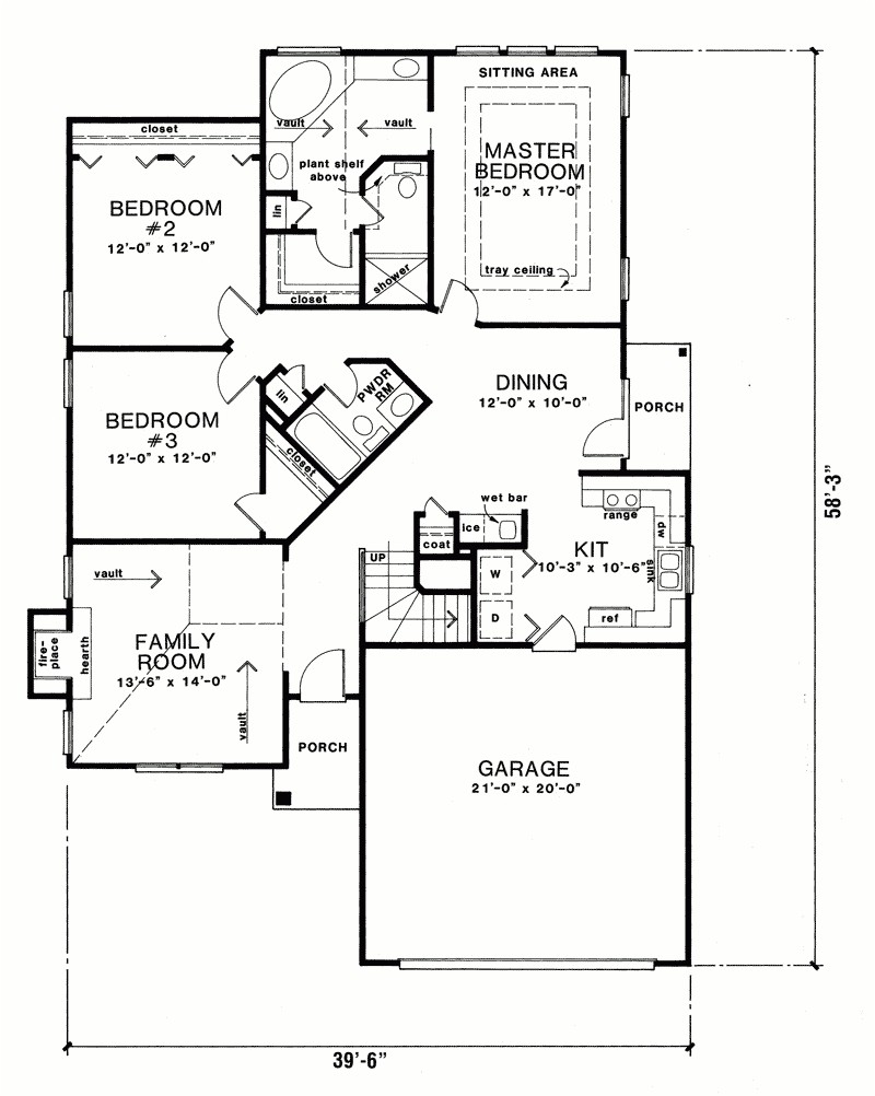 torlina ranch narrow lot home plan 076d 0094 house plans and more for amazing in addition to regarding ranch floor plans lovely
