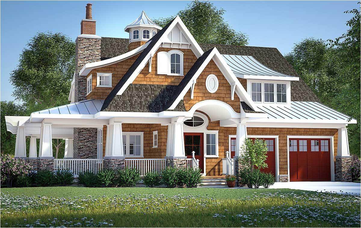 gorgeous shingle style home plan 18270be