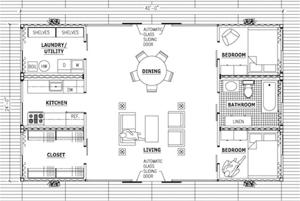 shipping container cabin floor plans