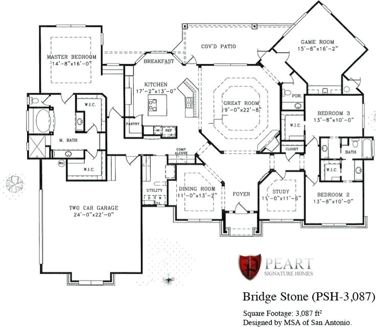 signature home plans bridge stone 1 story home floor plan custom home building remodeling and renovation photos signature home floor plans