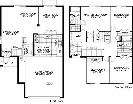 floor plans for single family home