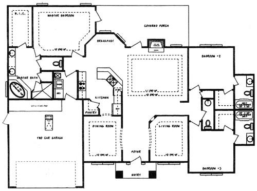 single family house floor plan