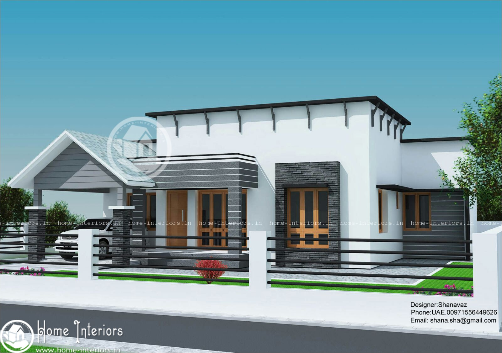 1300 sq ft single floor contemporary home design