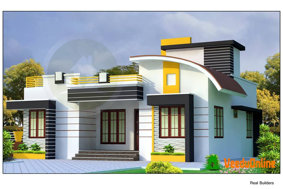 beautiful single floor home plan 1200 sq ft