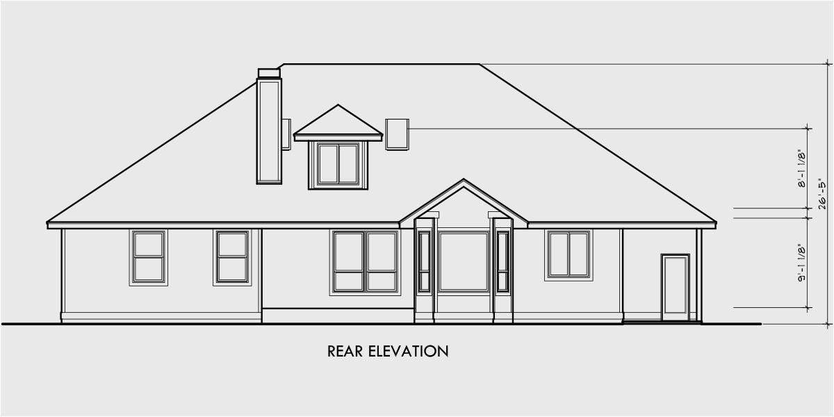 simple roofline house plans single roof line house plans