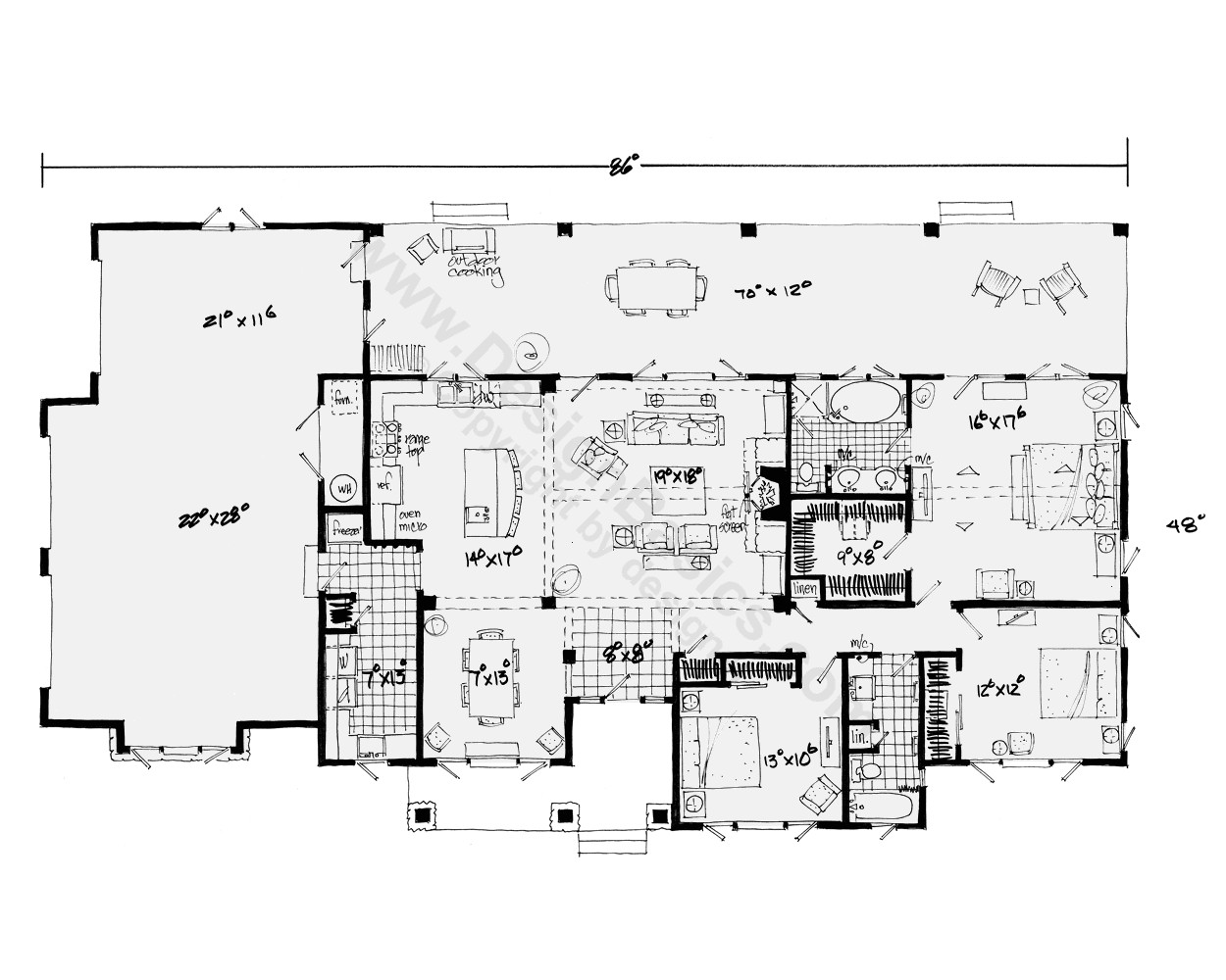 one story home plans