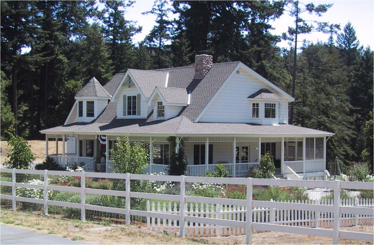 one story country house plans wrap around porch 3