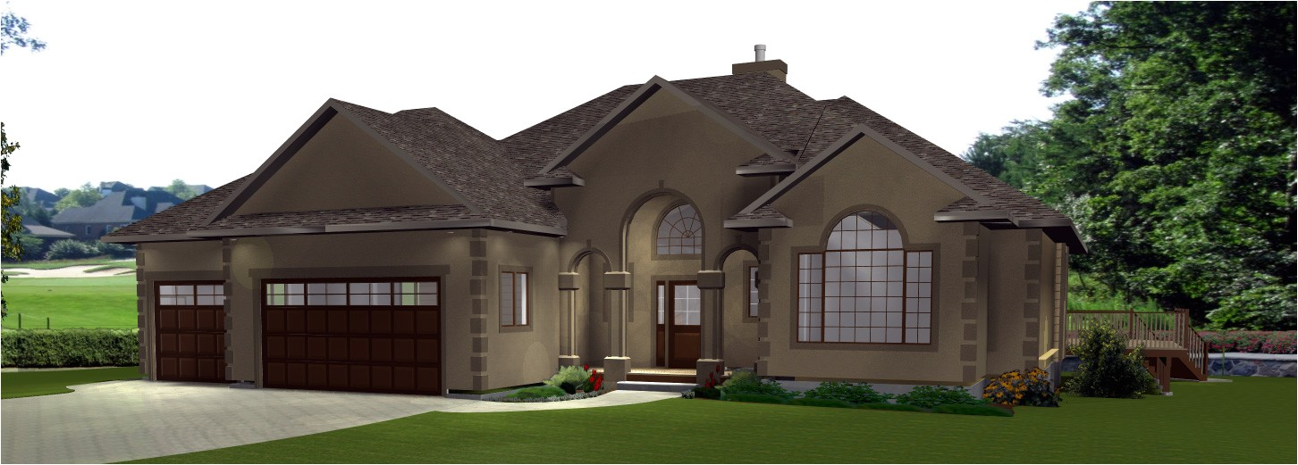 single story house plans with 3 car garage