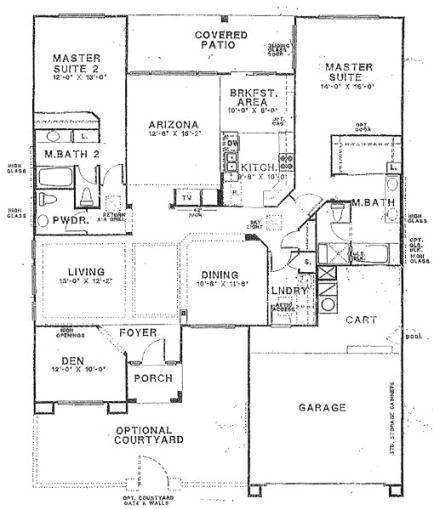 house building plans with two master bedrooms large single story within 2 bedroom house plans with 2 master suites