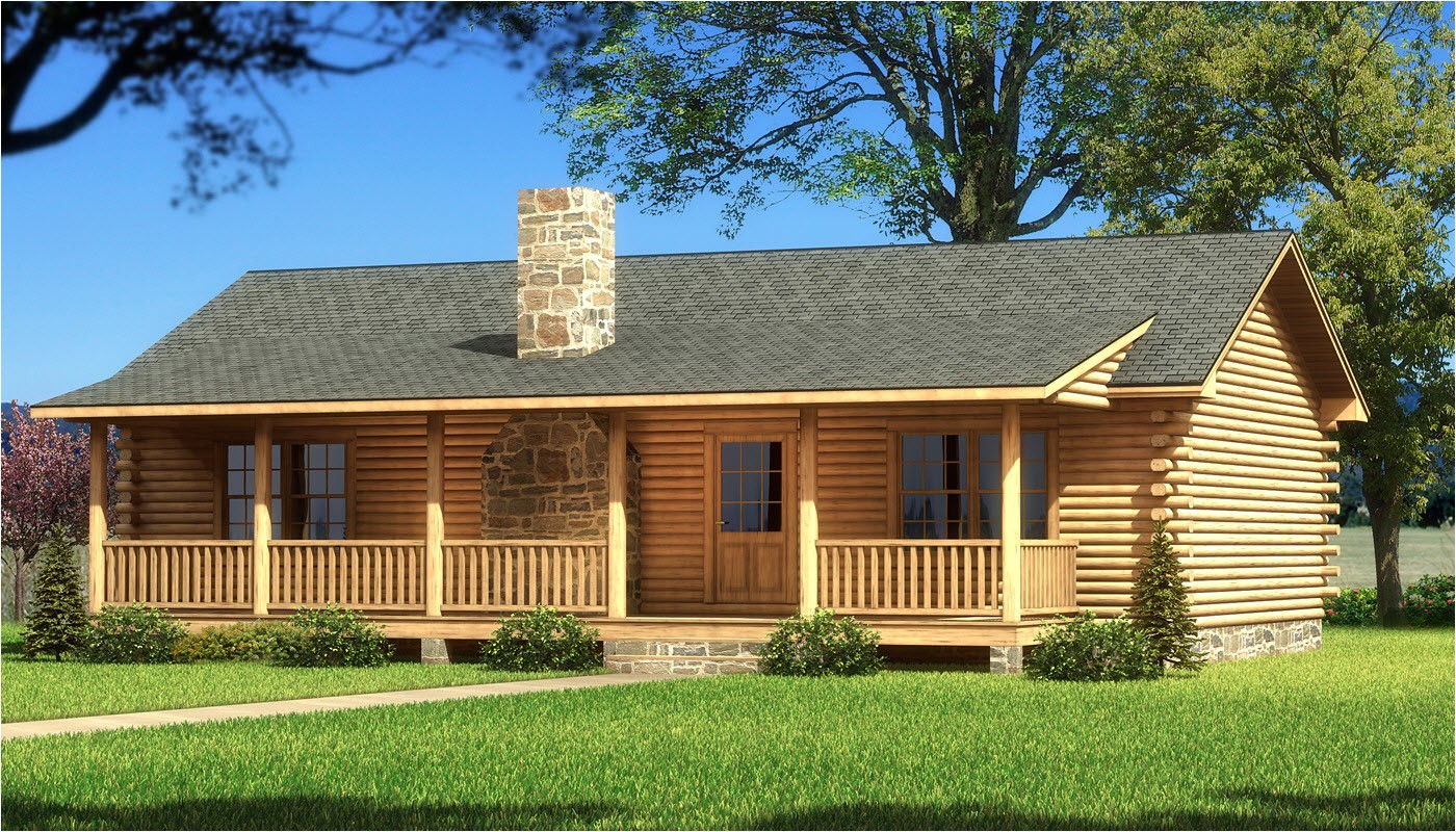one story log home plans