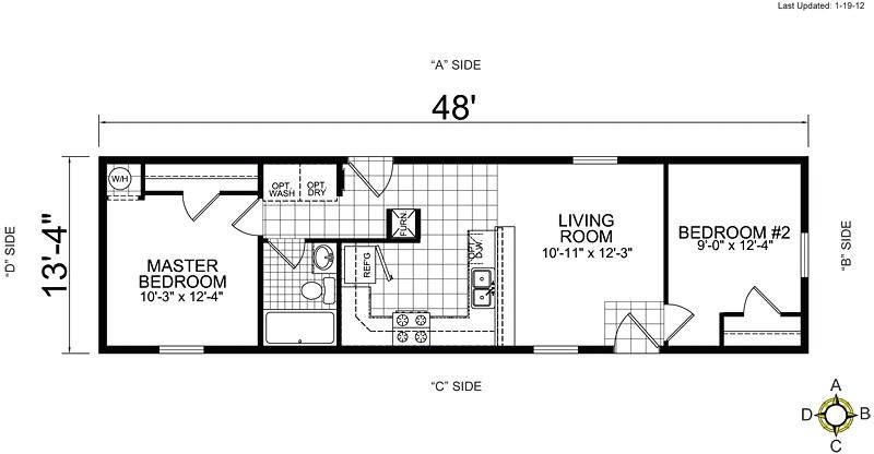 single wide mobile home floor plans 1 bedroom 3 bedroom single wide mobile home floor plans - 1 Bedroom Mobile Homes