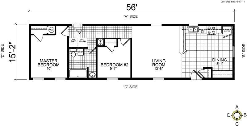 Single Wide Mobile Home Floor Plans 1 Bedroom Single Wide Mobile Home Floor Plans 2 Bedroom Unique