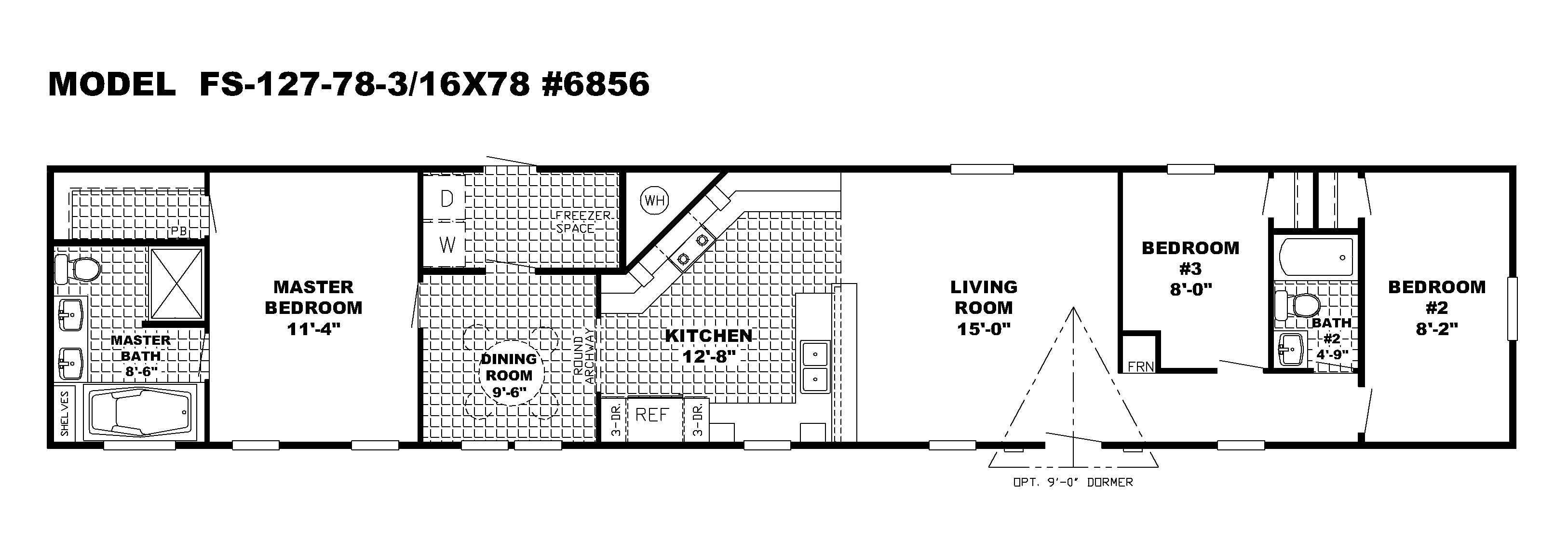 single wide mobile homes floor plans