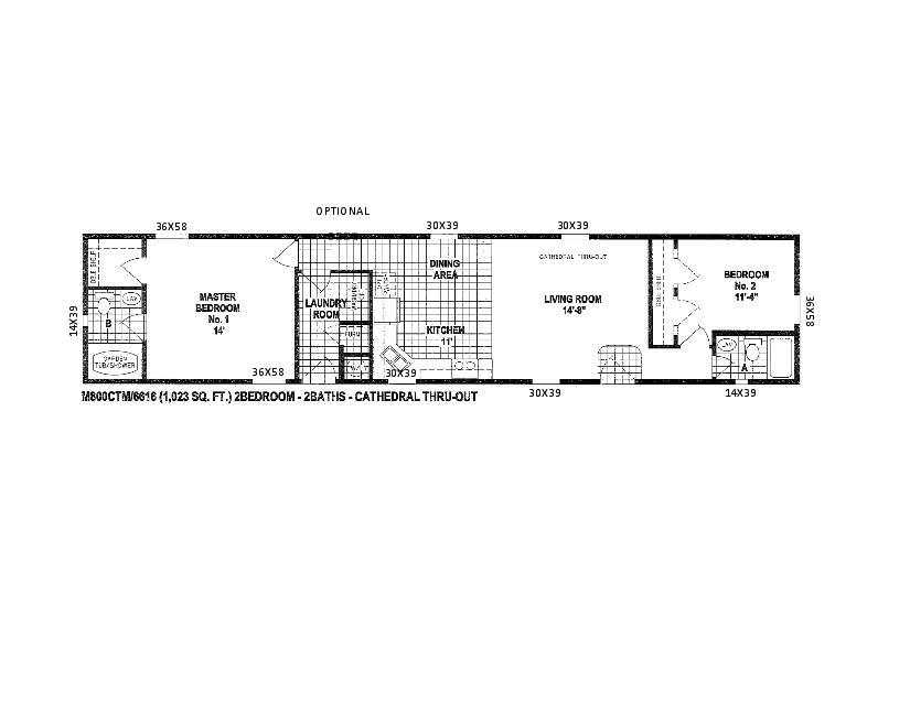 2 bedroom single wide trailer floor plans
