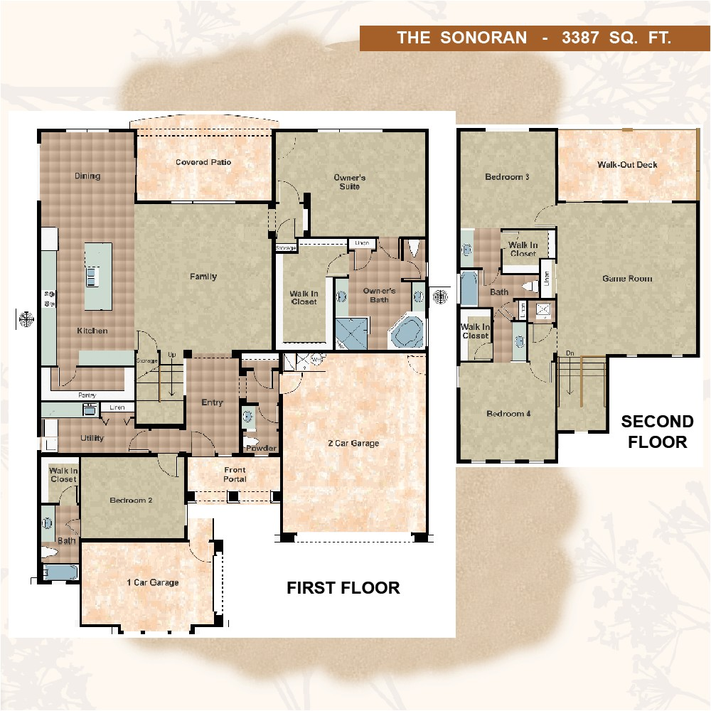 sivage homes floor plans inspirational sonoran model at desert view in mariposa sivage homes