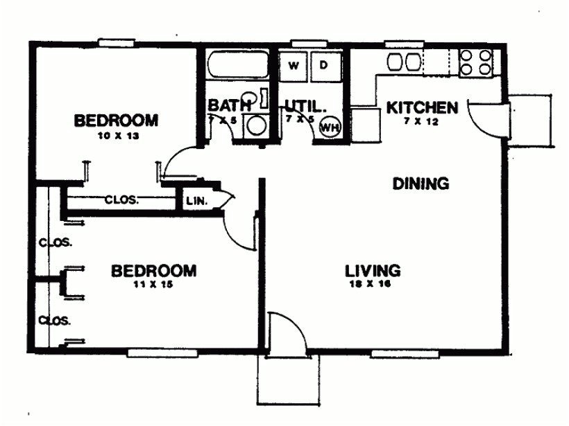 sketch plan for 2 bedroom house luxury eplans ranch house plan two bedroom ranch 864 square feet and