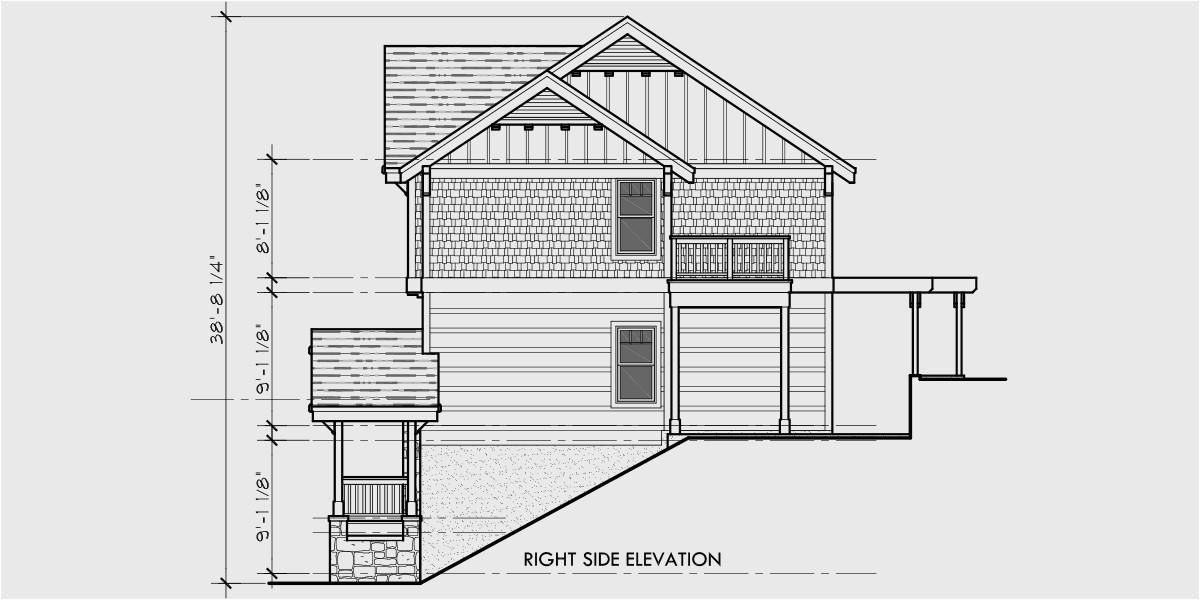 house floor plans for hillside