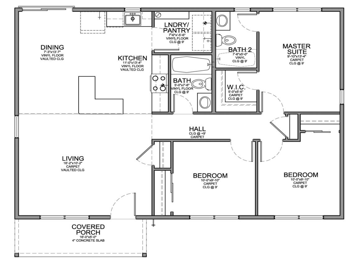 9c0b345798467d0b small 3 bedroom house floor plans modern small house plans
