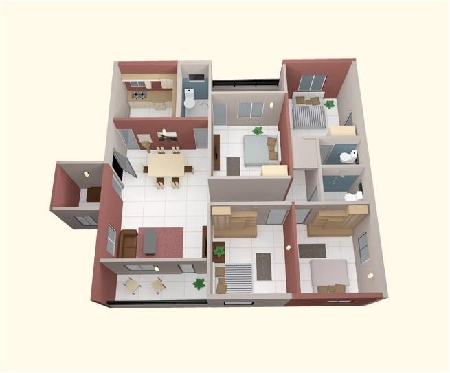 4 bedroom apartment house floor plans