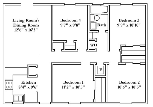 wonderful small 4 bedroom house plans free typical floor plans powering simple 4 bedroom house plans image