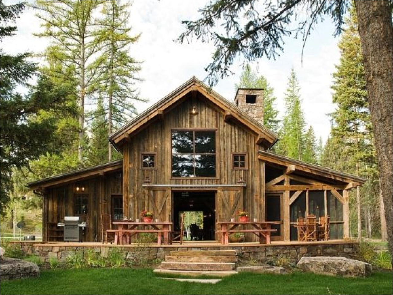 868312d8074836e7 rustic barn home plans rustic barn home plans with stone