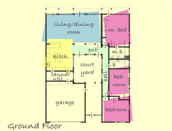 small house plans with interior courtyard