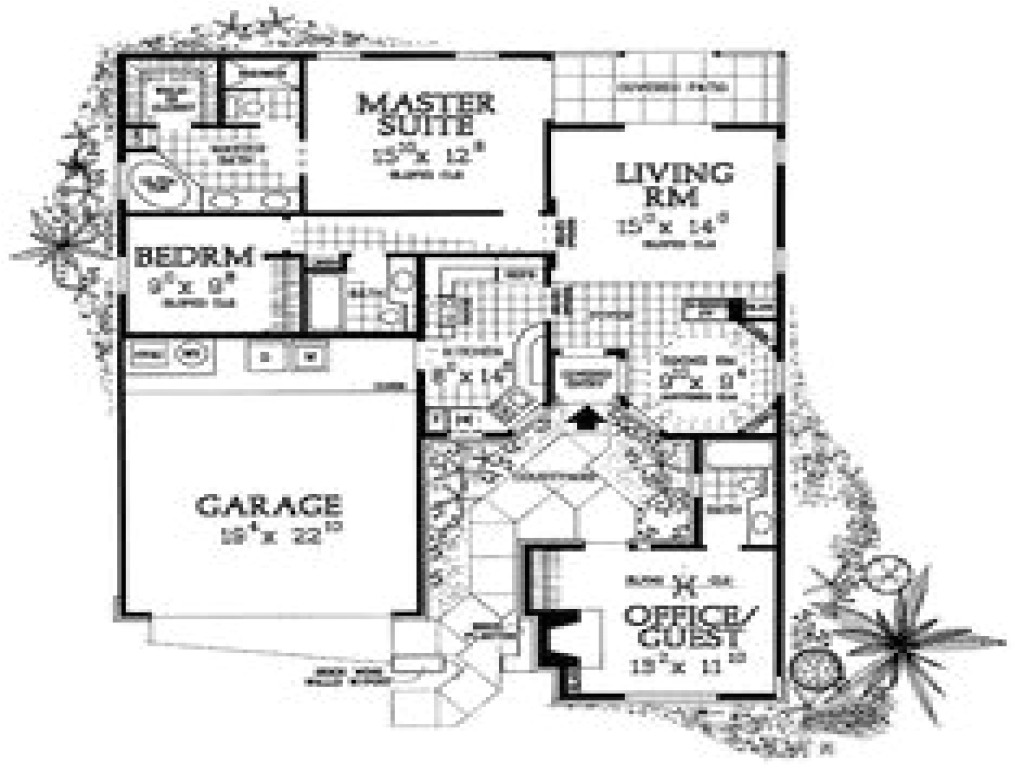 850454c29507eef8 small houses with courtyards small courtyard house plans