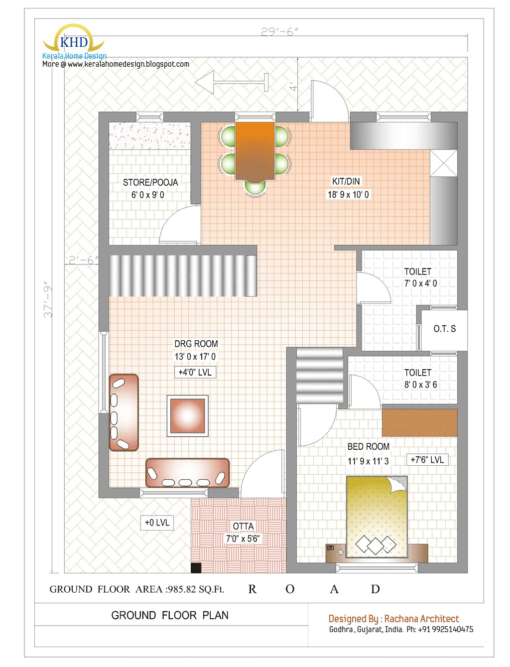 duplex house plan and elevation 1770 sq