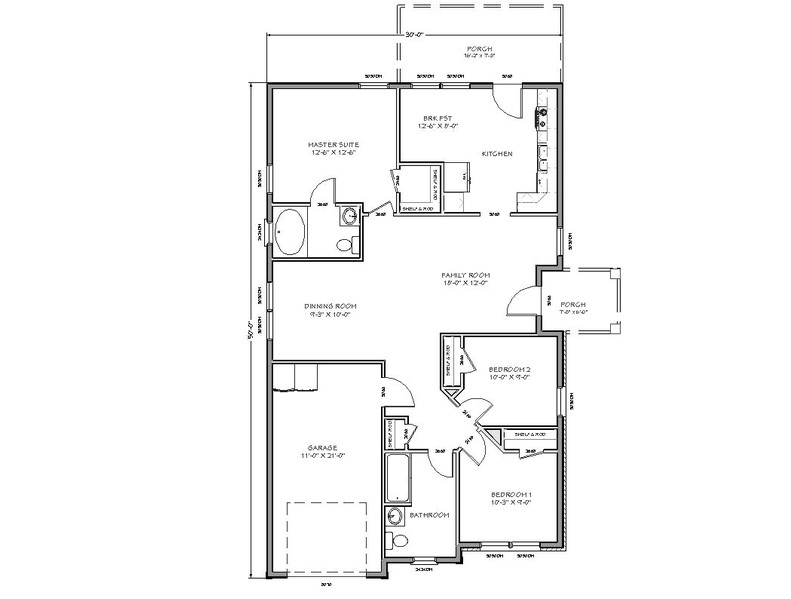 Small Family Home Plans Tiny House Floor Plans with Two Room or Bedroom and Large