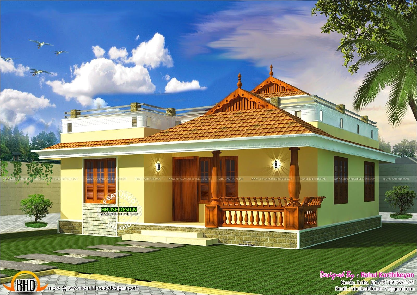 Small Home Plans In Kerala Style Small Kerala Style Home My Sweet Home Pinterest