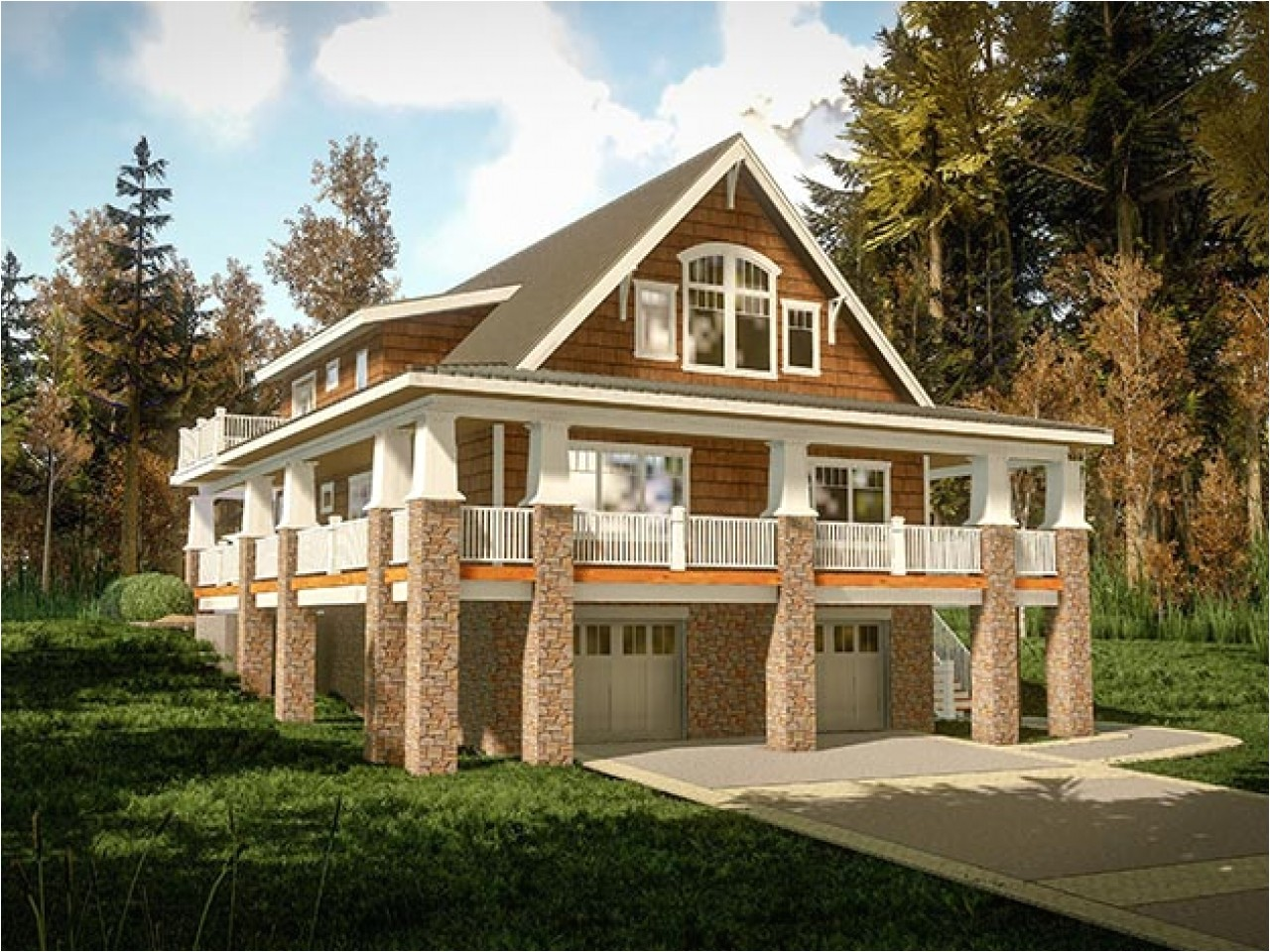 small lake home plans