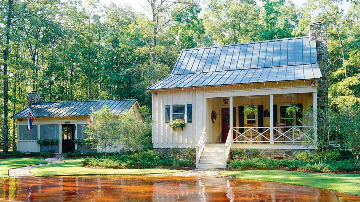 southern small lake house plans with screened porch