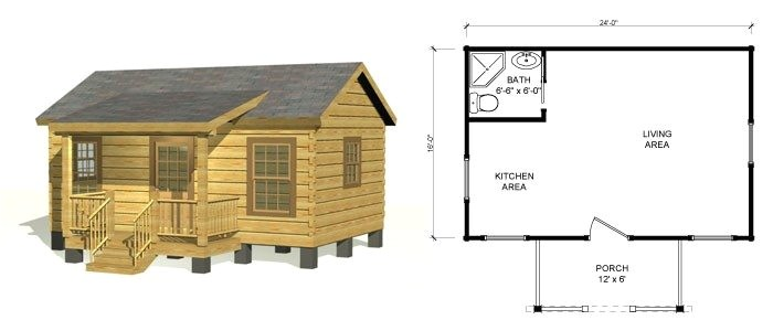 small log cabins floor plans