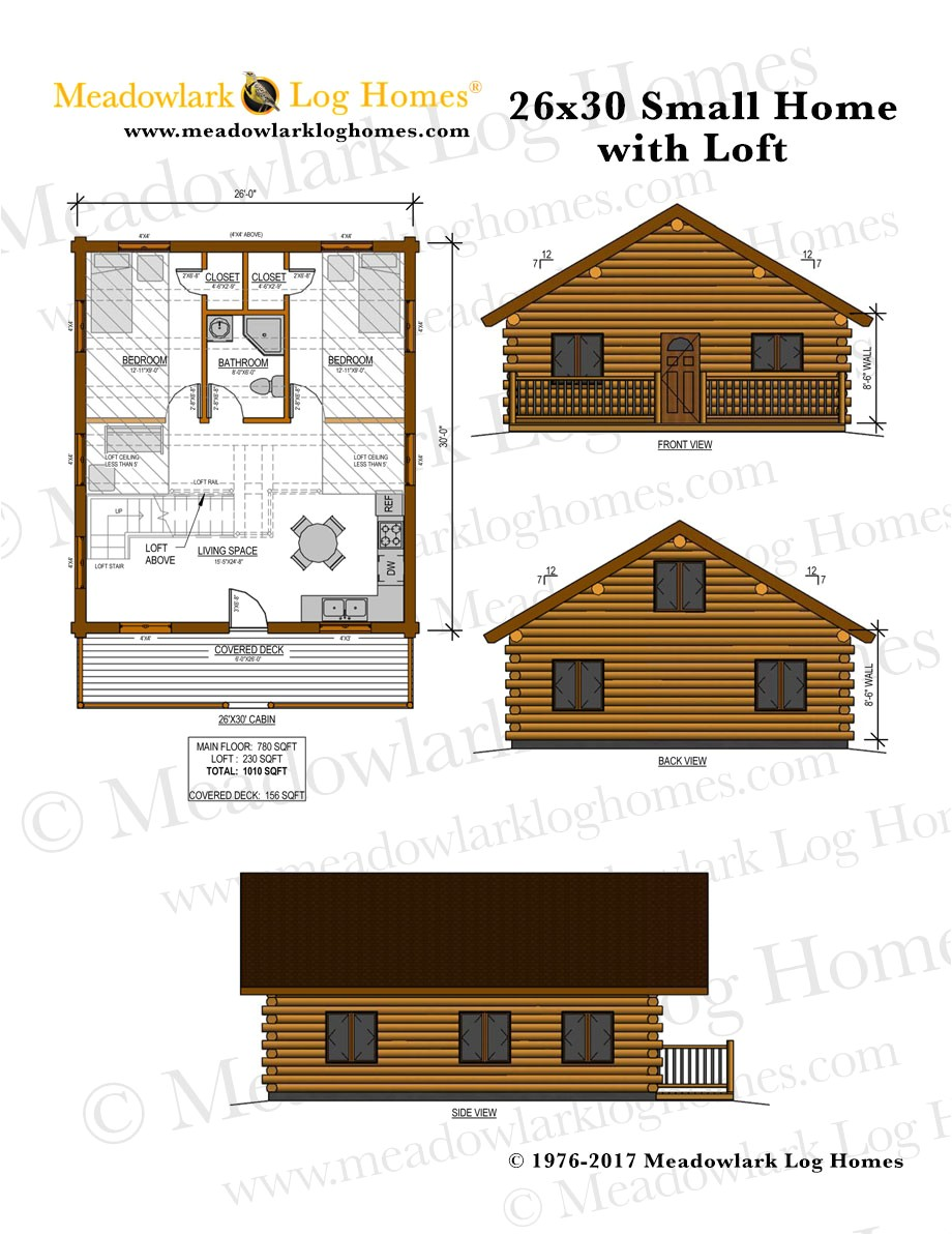 26x30 log home w loft