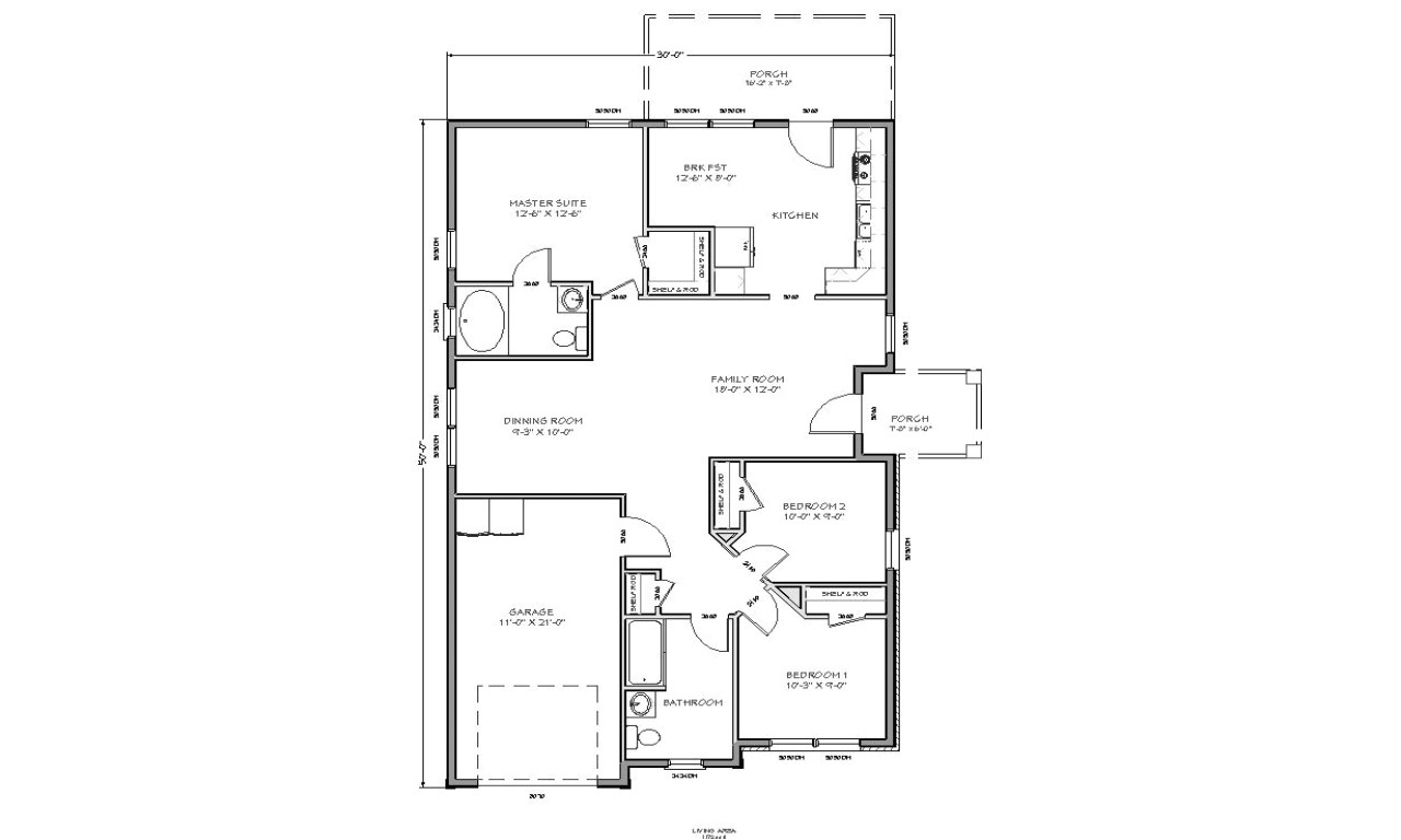 Small Ranch Homes Floor Plans Small House Floor Plan Small Ranch House Plans House
